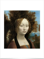 LEONARDO DA VINCI GINEVRA DE' BENCI BIG BORDERS LIMITED EDITION ART PRINT 18X24