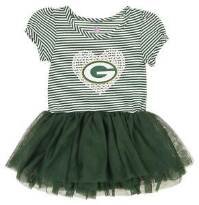 Outerstuff NFL Infant Girls Green Bay Packers Celebration Tutu Sequins Dress