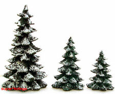 Dept. 56 Evergreen Trees Set of 3 Sizes Coldcast Heritage 52051