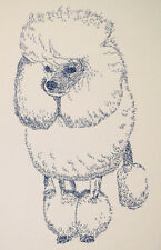 POODLE DOG ART PRINT #35 Stephen Kline adds your dogs name free. MINIATURE TOY