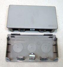 Tehalit LF60110 Endplatte grau (RAL7030) M5503 NEU