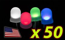 [50x] 10mm RGB LED Diffused Lens Common ANODE - LARGE