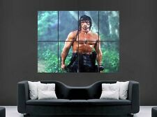 Rambo Sylvester Stallone Film Classique énorme Large Wall Art Poster Photo