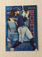 BO BICHETTE ROOKIE 028/150 - 2020 TOPPS BOWMAN PLATINUM TORONTO BLUE JAYS #78