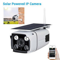 Solar Battery Power IP Camera Waterproof HD WiFi Wireless Security Video For IOS