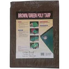 Kotap Brown/Green Reversible Tarp 6 X 8 - High Density Polyethylene Woven