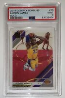 Pop 1 of 3!💎2019 LeBron James CLEARLY DONRUSS GOLD #20 PSA🔥BGS SP Lakers prizm