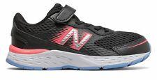 New Balance Kid's 680v6 Big Kids Female Shoes Black with Pink & Blue