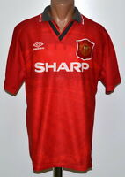 MANCHESTER UNITED 1994/1995/1996 HOME FOOTBALL SHIRT JERSEY UMBRO SIZE L ADULT