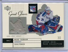 2002-03 UPPER DECK MASK COLLECTION MIKE DUNHAM GREAT GLOVES GAME USED JERSEY
