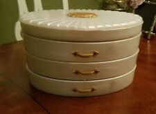 Vintage RIALTO Products, NY Lucite Pearl Vanity Jewelry Case Box Organizer