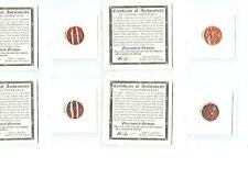 Four (4) VOC Dutch East Indies Co 1700's Duits Coins, Certif Story & Mini Albums