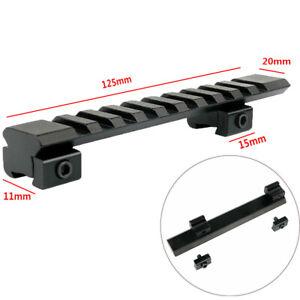 Adapter 11mm bis 20mm Prismenschiene auf Weaver Picatinny Zielfernrohr Montage