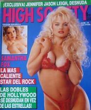 HIGH SOCIETY 12 SAMANTHA FOX SAVANNAH JENNIFER JASON LEIGH SANDRA SCREAM  Poster