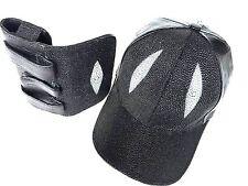 BASEBALL PLAYER %100 GENUINE STINGRAY EYE DIAMOND SHAPE HAT& PHON BAG+MAGNET#166
