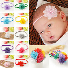 Cute Wholesale 10Pcs Chiffon Flower Headband Baby Girl Infant Toddler Hair Band