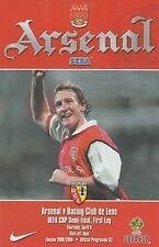 Arsenal v RACING CLUB DE LENS. L'UEFA CUP semi-final 1999/2000