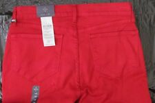 Not Your Daughter Jeans NYDJ Lift Tuck Samantha Slim Cardinal Red Jeans