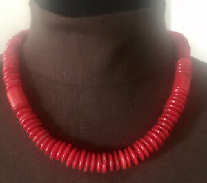 Mine Finds By Jay King Red Bamboo Corals Sterling Silver Necklace