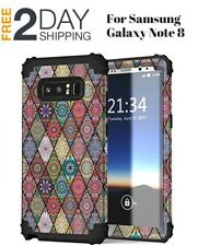 Samsung Galaxy Note 8 Case Heavy Duty Hybrid Silicone Rubber Bumper Phone Cover