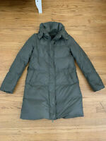 BCBG Maxazria WEE Womens Olive Down Feather Jacket Puffer Coat XS