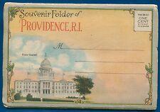 Providence Rhode Island ri 1930s souvenir postcard folder foldout #1