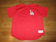 Men's VTG Los Angeles Dodgers Majestic Sewn Alternate RED Jersey Sz. 2XL
