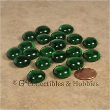 NEW Set of 20 Green Glass Gaming Stones RPG Game D&D Hit Point Markers Counters
