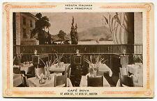 "1910 Italian Restaurant Ad Postcard: ""CAFE BOVA"" [Boston]"