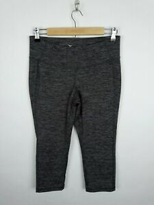 OLD NAVY Active Women's Large Fitted Black Gray Space Dye Crop Athletic Leggings