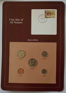 MALAYSIA 5 Coins BU 1981 1982 1983 Coin Sets of All Nations