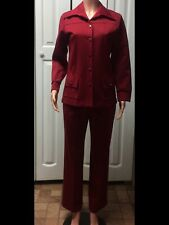 WOMEN'S ALFRED DUNNER RED BLAZER AND PANTS SET SIZE 14 PETITE