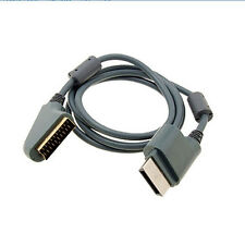 6 ft 1.8m RGB Scart Video HD TV AV Cable For XBOX 360 Original Version