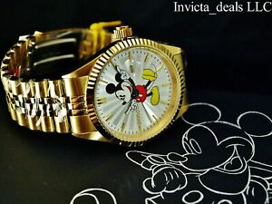 Invicta Men's Disney® 43mm Mickey Mouse Limited Edition 18K Gold Plated SS Watch