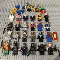 Large LEGO Super Heroes Hero DC Marvel Minifigure Bundle Joblot Genuine Batman