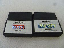 VECTREX ARCADE GAME CARTRIDGE LOT OF 2 VIDEO GAMES BLITZ RIP OFF GCE VINTAGE >>