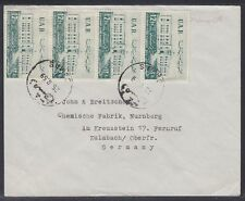 1959 Syrien Syria Cover Damaskus to Germany, School Gymnasium [ca762]
