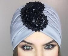 Unique Women Bonnet Cancer Chemo Hijab Turban Cap Beanie ! Sequins Hat !
