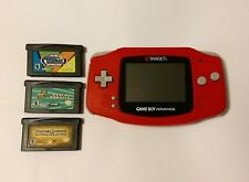 RARE Nintendo Gameboy Advanced Handheld Red Target Exclusive (3 Games Included)