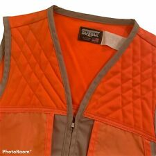Mens Saftbak Orange Hunting Vest XL Shooting Game Pouch USA shotgun trap skeet