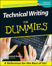 NEW Technical Writing For Dummies by Sheryl Lindsell-Roberts