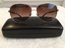 RALPH BY RALPH LAUREN BROWN POLARISED LENS SILVER PILOT TORTOISE SUNGLASSES NEW