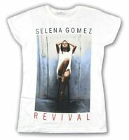 Selena Gomez Revival 2016 World Tour Girls Juniors White T Shirt New Official