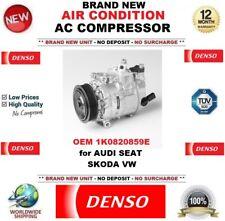 Denso CLIMATISATION ca COMPRESSEUR OEM 1k0820859e pour Audi Seat Skoda VW NEUF