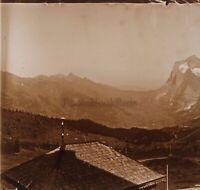 Montagne Francia Suisse Foto Stereo PL59L1n40 Placca Da Lente Vintage c1910