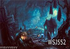 Halloween Buildings vinyl Backdrop Photography Props Background 7X5FT WSJ552