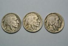 1919 1920 & 1921 Buffalo, Indian Head Nickels, VF Condition - C5487