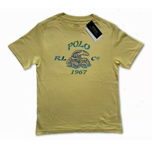 New Polo Ralph Lauren Short Sleeve T Shirt Top Yellow Surf 1967 Age 10-12 150/72