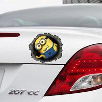 Despicable ME 2 Minion in Hole Colour Vinyl Decal Window Car Sticker Bumper Gift