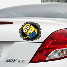 Despicable ME 2 Minion in Hole Colour Vinyl Decal Window Car Sticker Bumper Gift